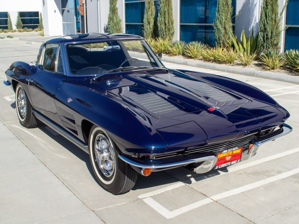 A Daytona Blue 1963 Chevrolet Corvette Sting Ray Coupe