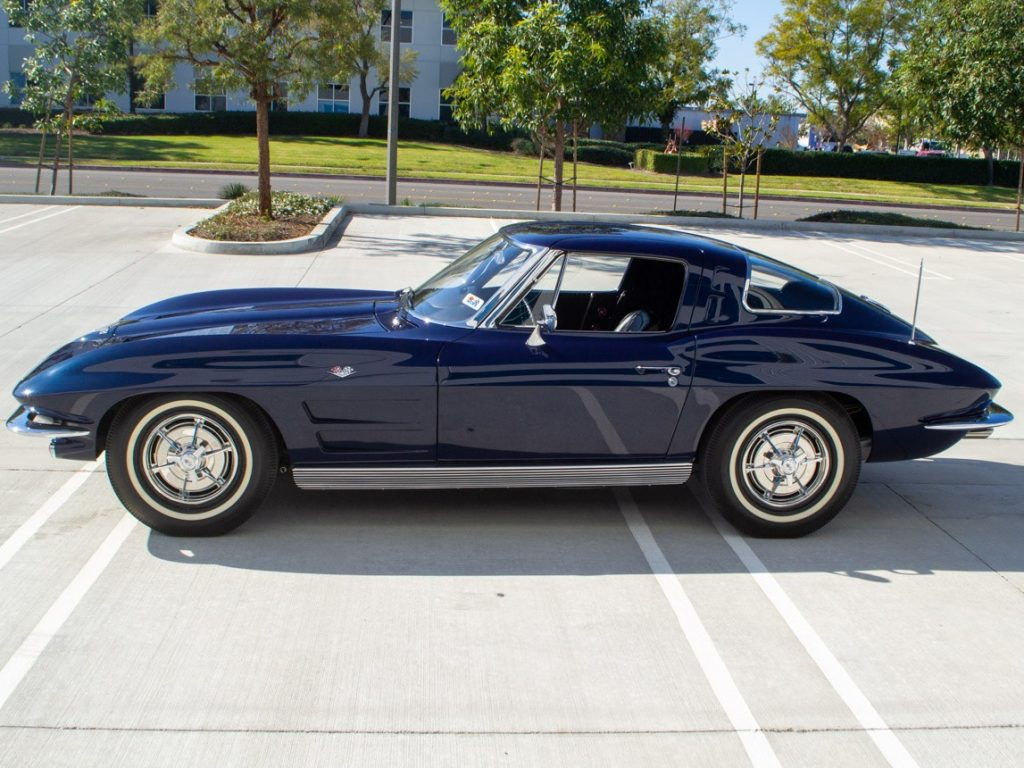A Daytona Blue 1963 Corvette