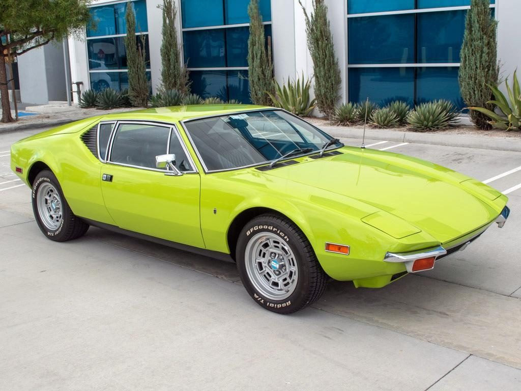 Bright green 1972 De Tomaso Pantera