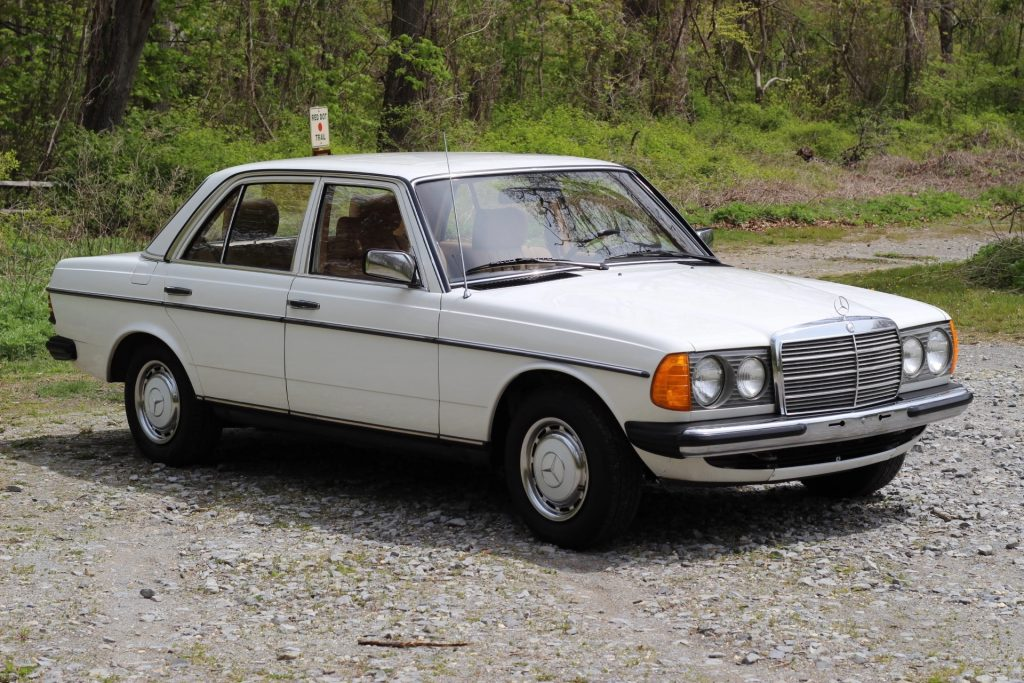 White 1983 Mercedes-Benz 200D W123 classic luxury sedan