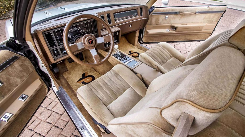 The interior of a 1987 Buick Regal T-Type