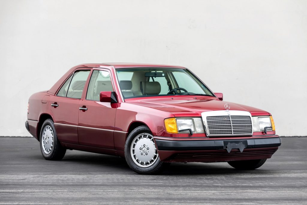 Red 1992 Mercedes-Benz 300E W124 classic luxury sedan
