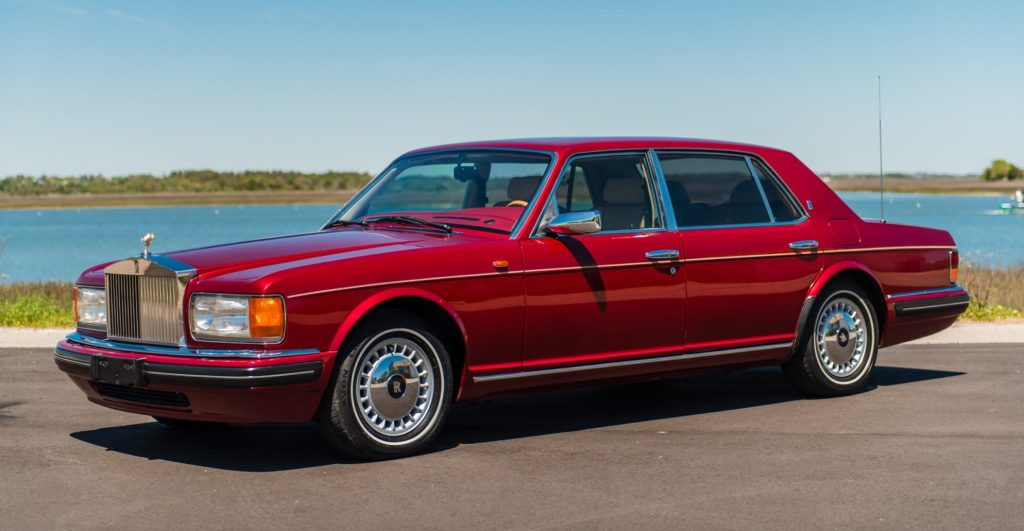 Red 1996 Rolls-Royce Silver Spur