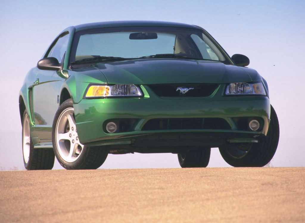 Green 1999 Ford Mustang SVT Cobra