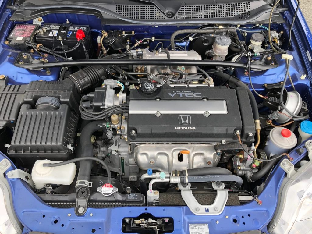 The 1.6-liter engine found in the 2000 Honda Civic Si