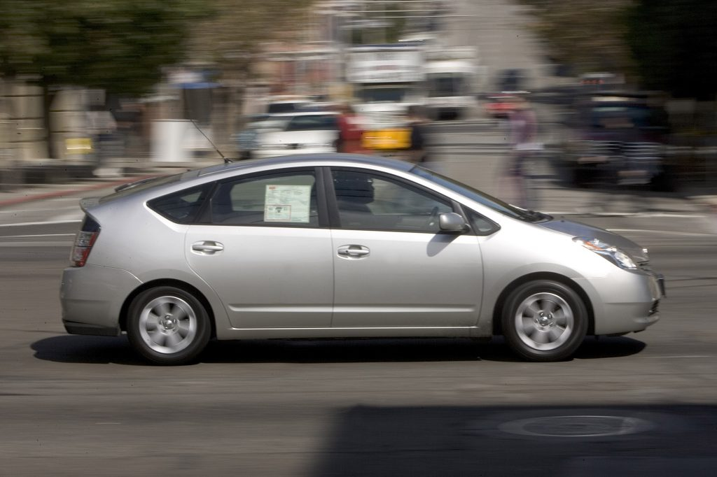 A 2005 Toyota Prius on a test drive
