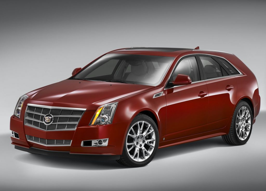 Red 2010 Cadillac CTS Sport Wagon