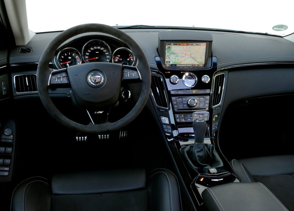 Dashboard and front interior space of the 2011 Cadillac CTS-V Wagon