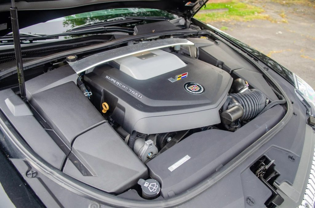 Shot of the 2014 Cadillac CTS-V Wagon's 6.2-liter supercharged V8