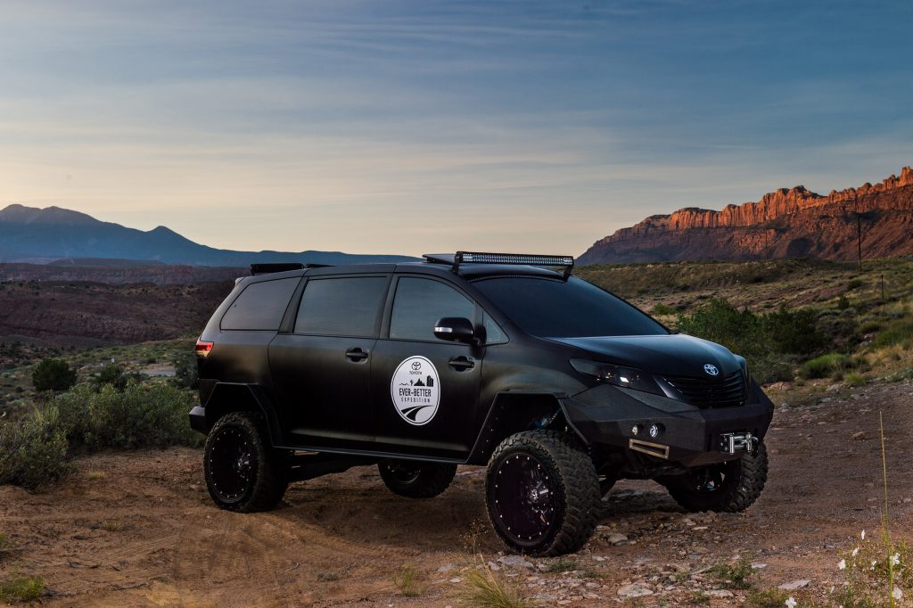 Toyota Sienna/Tacoma overland build, black on black and ready for anything