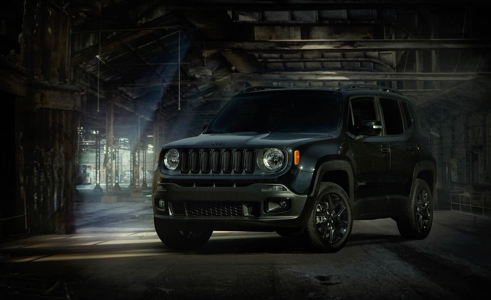 front shot of jeep renegade dawn of justice