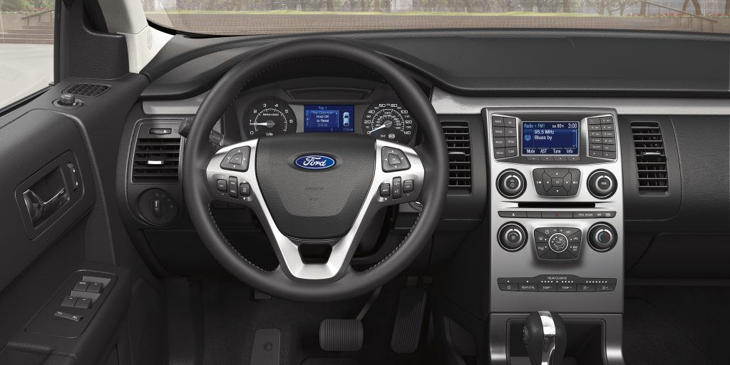 interior dash view of the ford flex