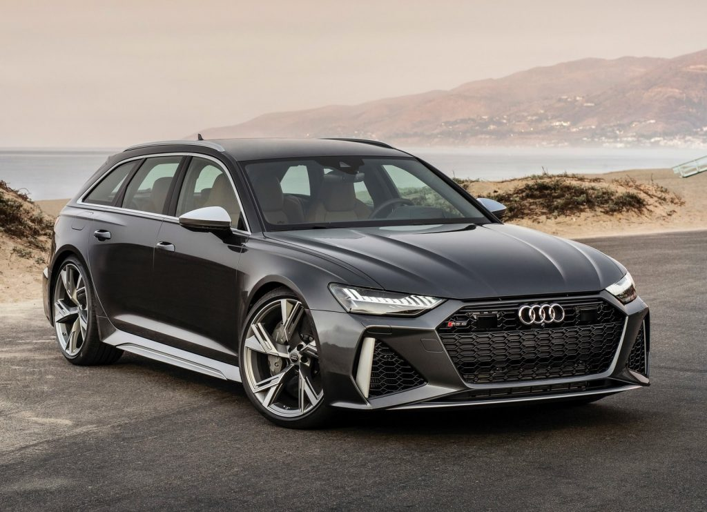 Dark gray 2020 Audi RS6 Avant