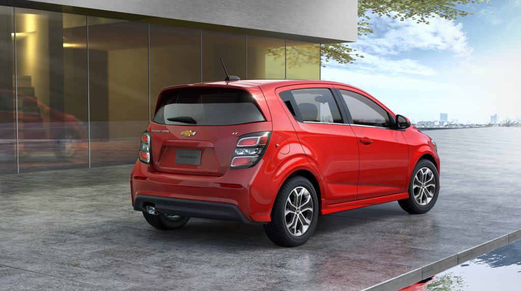 2020 Chevrolet Sonic rear shot
