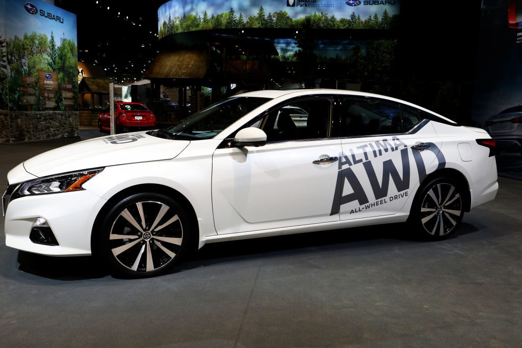 2020 Nissan Altima All Wheel Drive is on display at the 112th Annual Chicago Auto Show