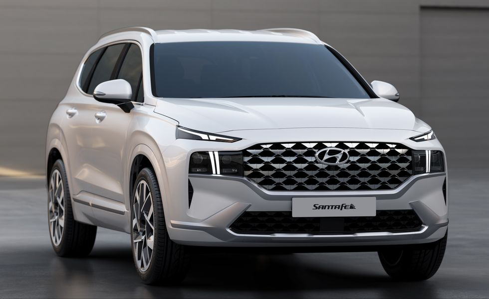 2021 Hyundai Santa Fe on display