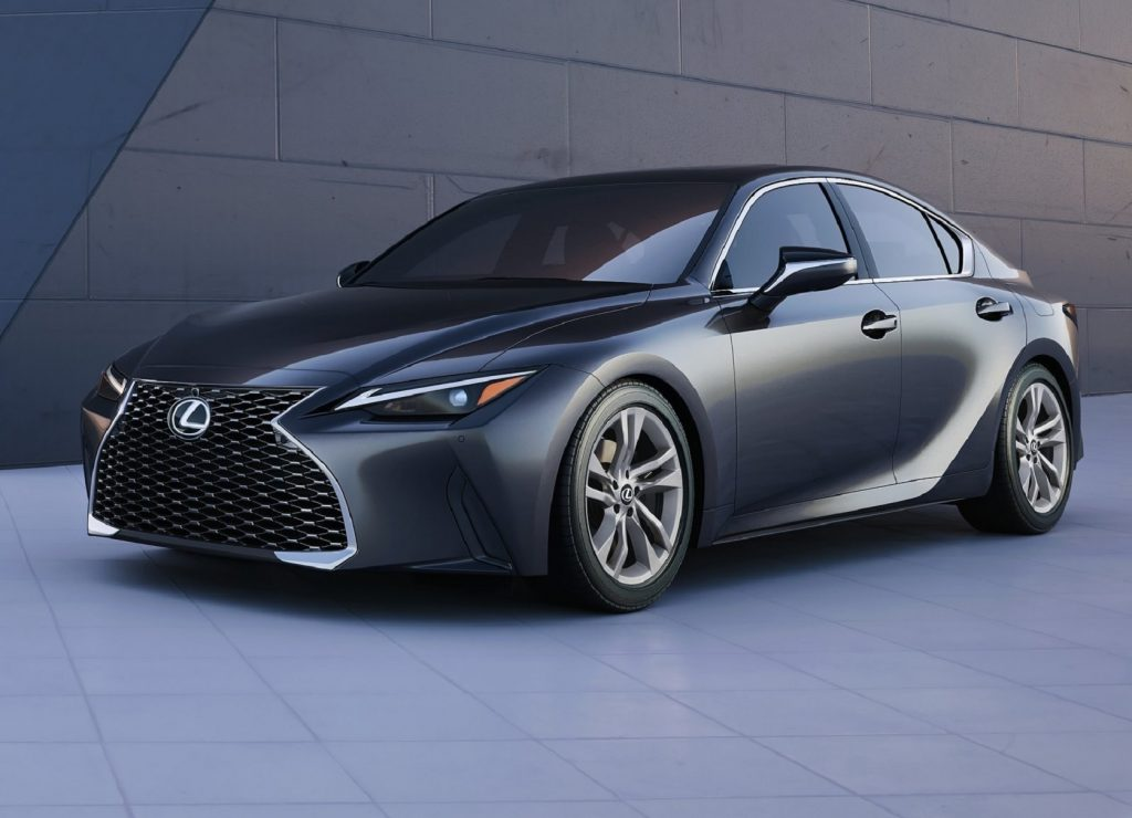 Gray 2021 Lexus IS sedan