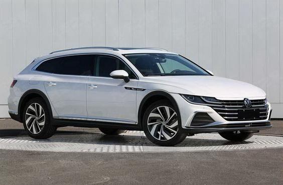 2021 VW Arteon Shooting Brake wagon front 3/4 view in white