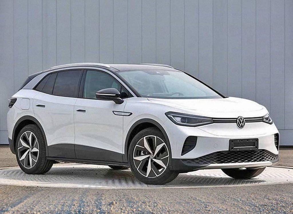 2021 VW ID.4 Cross EV in white ft 3/4 view