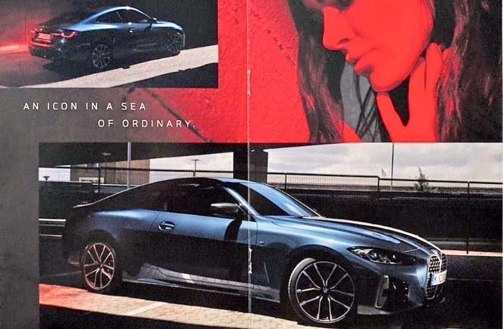 2021 leaked BMW 4-Series brochure with several images