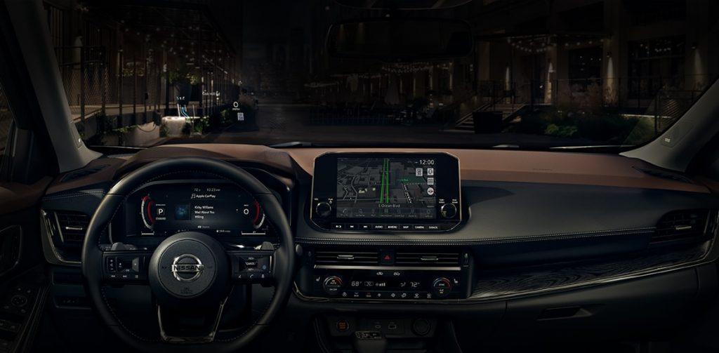 2021 Nissan Rogue instrument panel dark