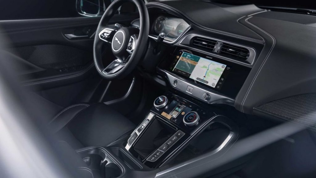 Black interior of the 2021 Jaguar I-Pace