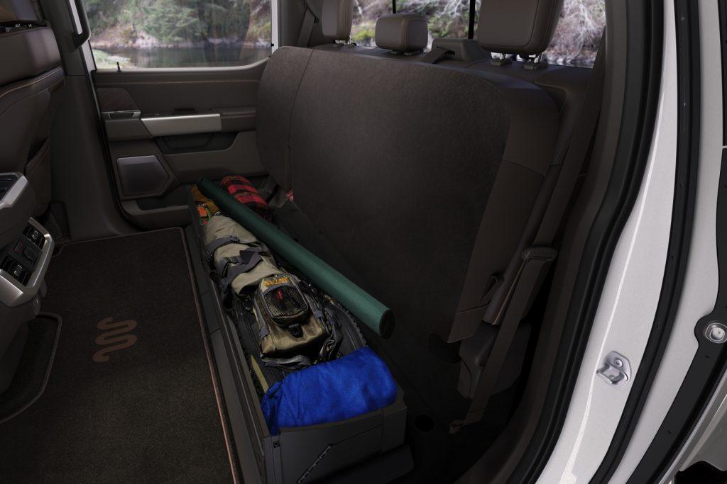 2021 Ford F-150 Interior Storage under rear seat