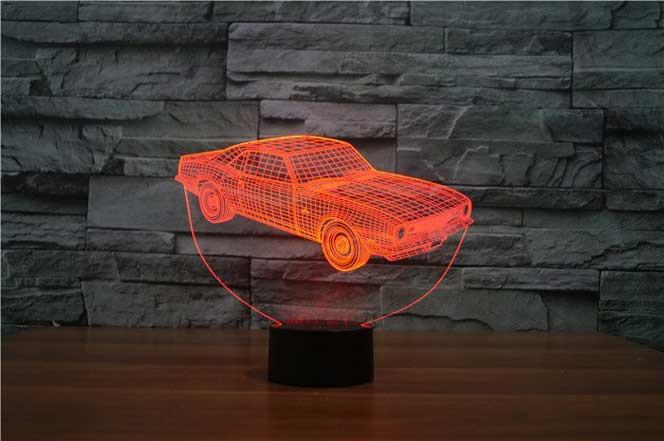 Red 3Dimensional LED muscle car lamp