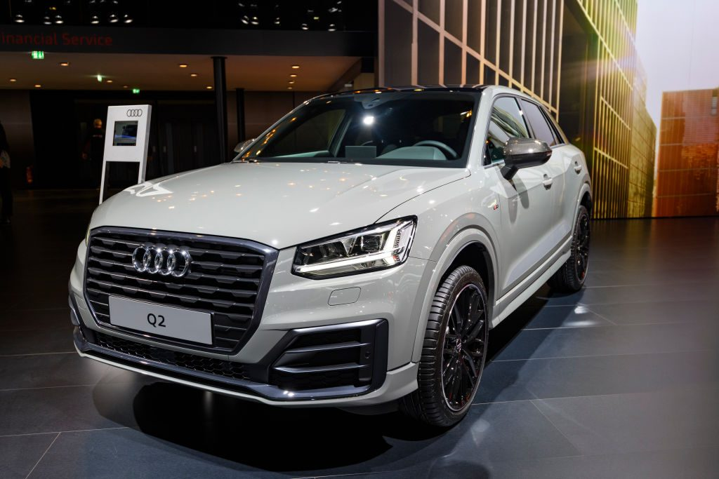 Audi Q2 compact luxury SUV on display at Brussels Expo