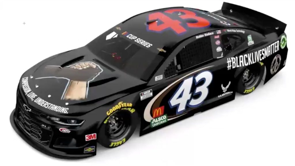 Bubba Wallace No. 43 Chevy BLM paint scheme