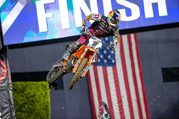 Cooper Webb flying high on his 450sxf