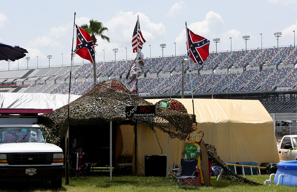 Confederate flags randomly seen at NASCAR event
