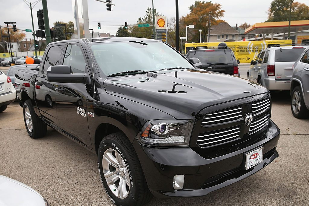 A Ram 1500 truck is offered for sale at the Marino Chrysler Jeep Dodge dealership