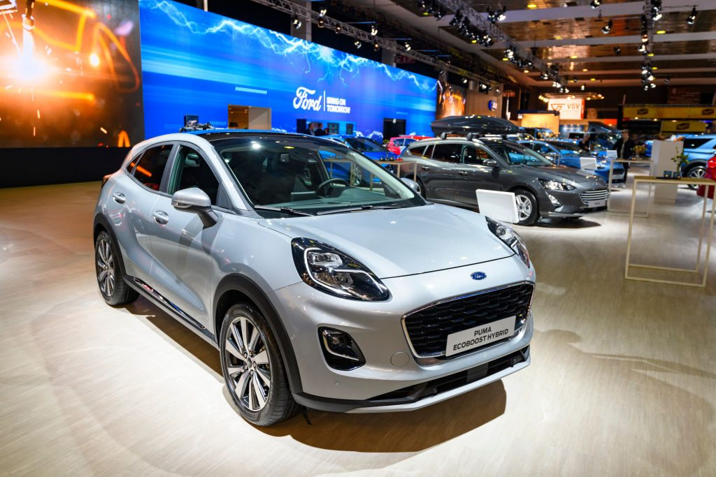 Ford Puma on display at auto show