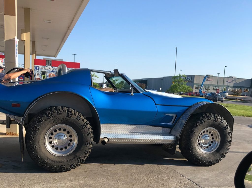 Corvette made into off-road freak