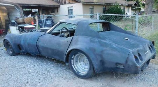 wrecked twin-engine Corvette