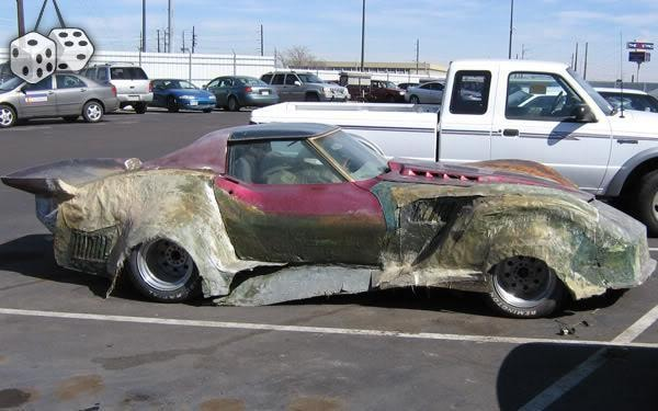 what looks like a melting Corvette freal