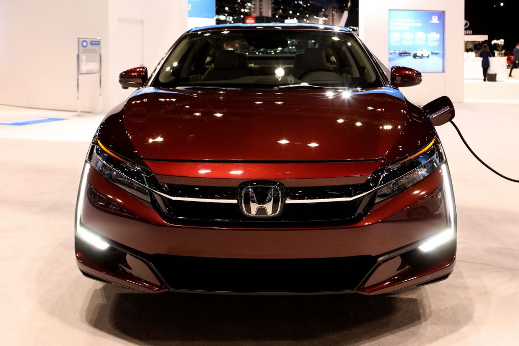 2019 Honda Clarity is on display at the 111th Annual Chicago Auto Show in 2019