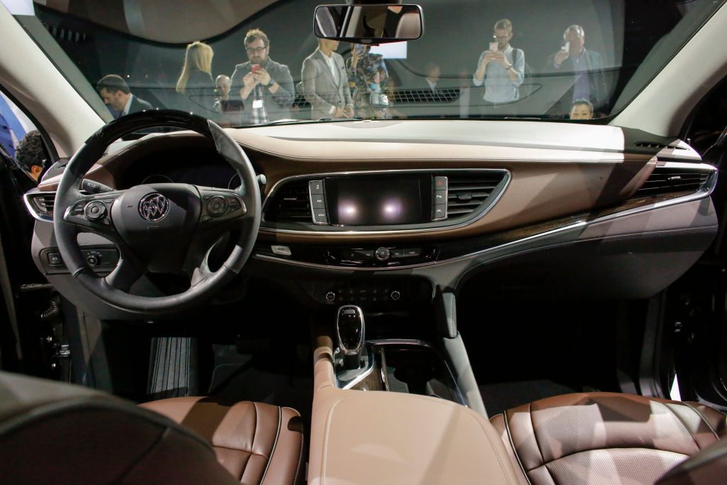 2017 Buick Enclave on display at US Auto Show.