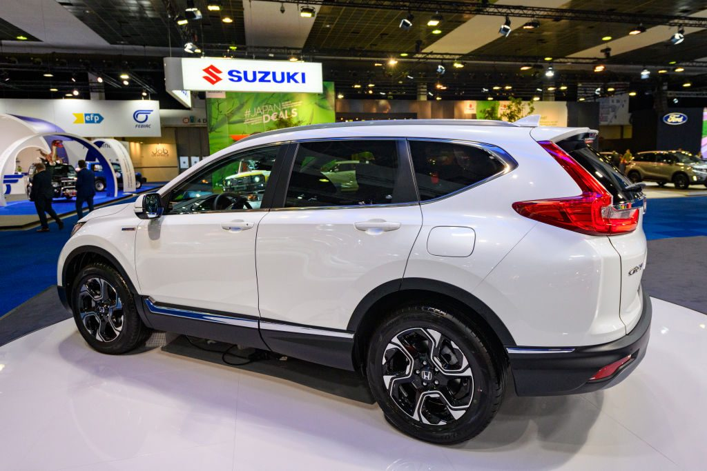 Honda CR-V Hybrid compact crossover SUV on display at Brussels Expo