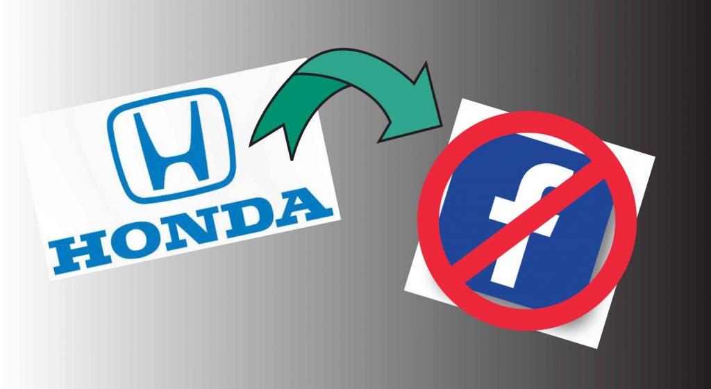 Honda and Facebook logos