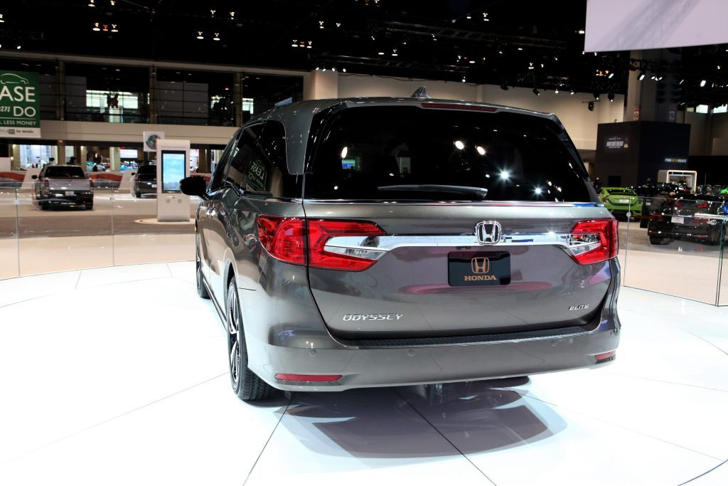A Honda Odyssey on display at an auto show