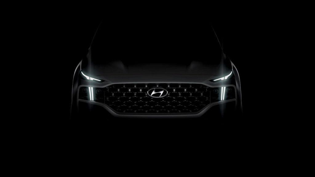 2021 Hyundai Santa Fe teaser reveals T shaped headlights