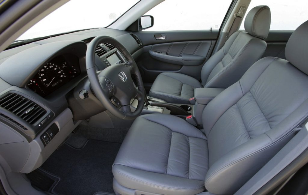 older EX-L interior of a seventh generation Honda Accord