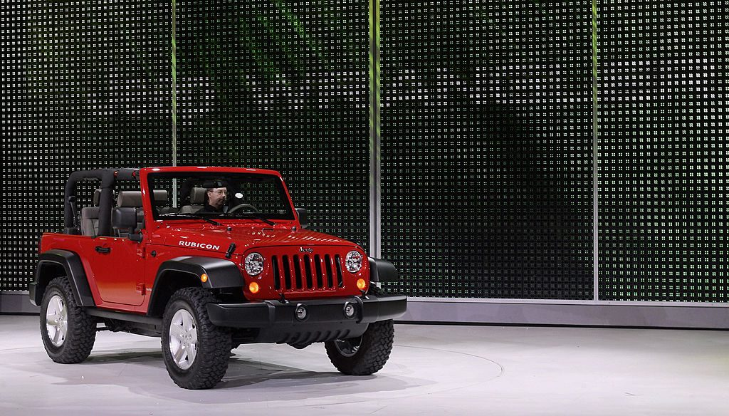 The 2006 Jeep Wrangler is displayed 09 January 2006 during the press days at the North American International Auto Show