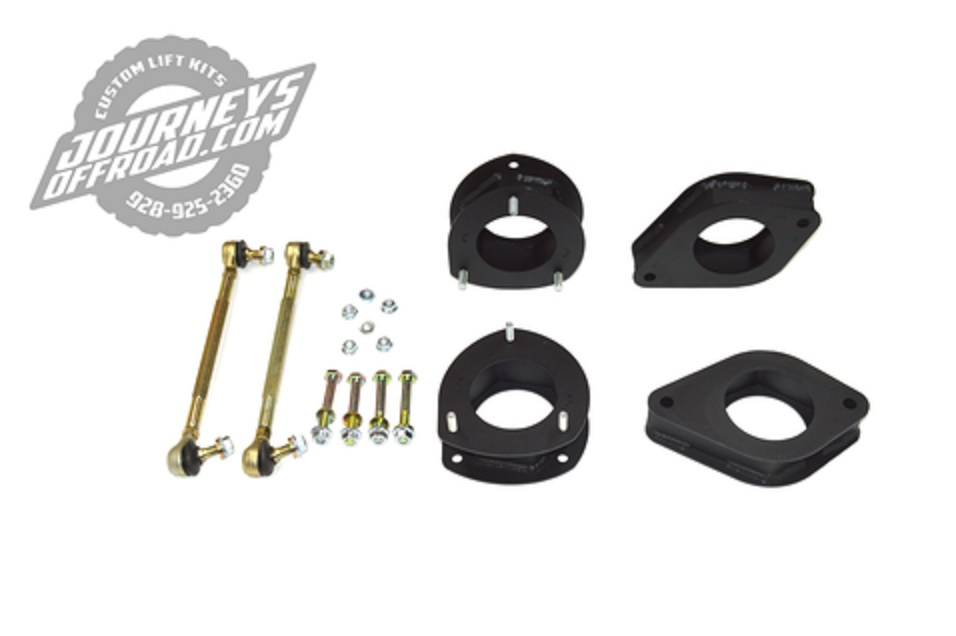 Journeys Off Road R60-R61 Mini Cooper lift kit components, including suspension spacers and tie rods