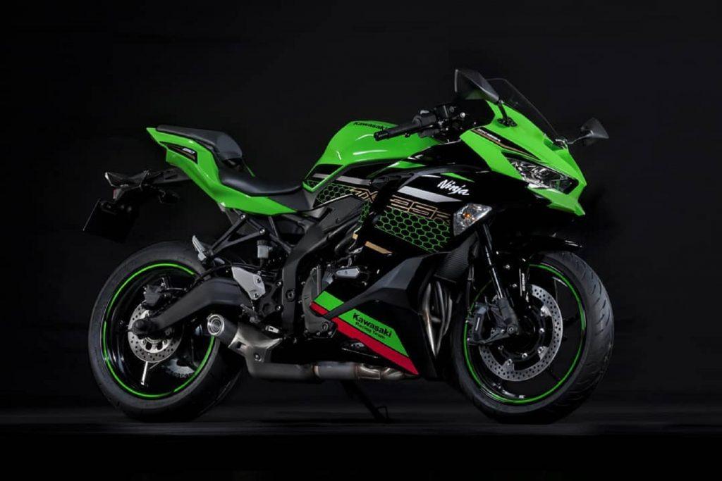 Green Kawasaki Ninja ZX-25R motorcycle