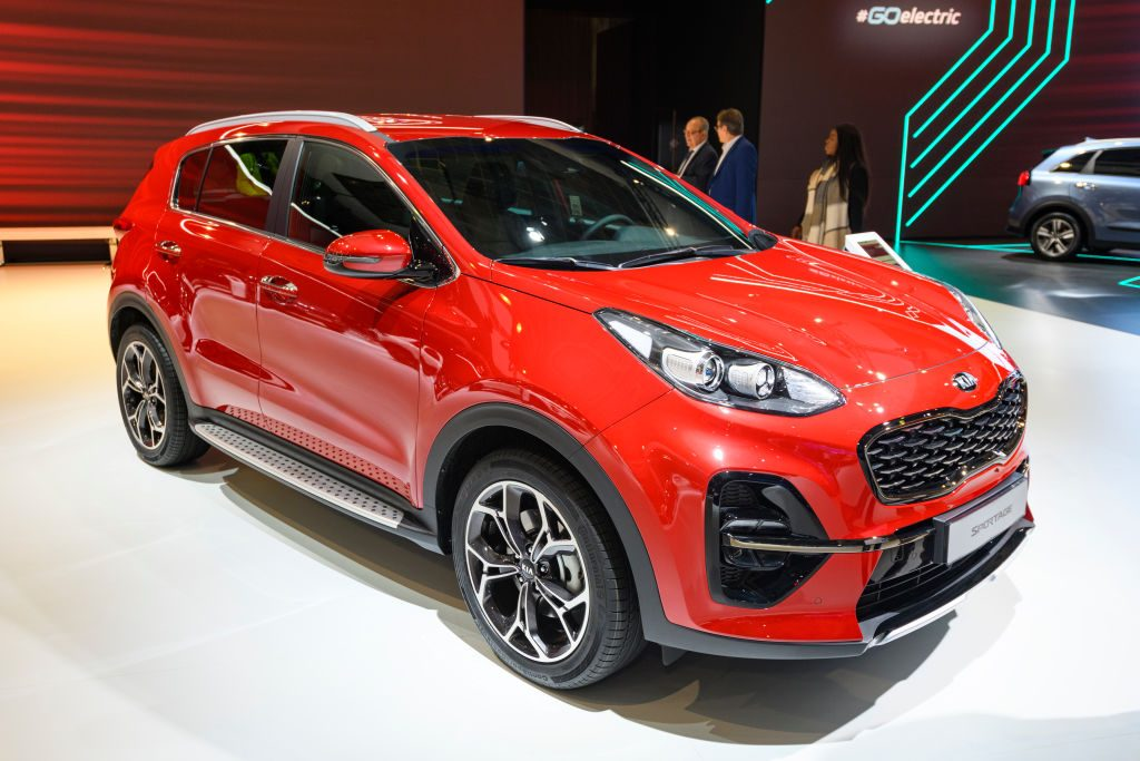 Kia Sportage compact SUV on display at Brussels Expo