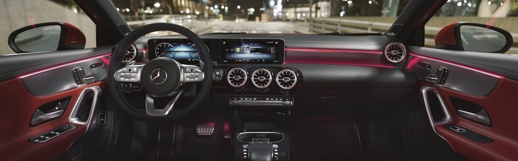 A Mercedes A220 interior shot