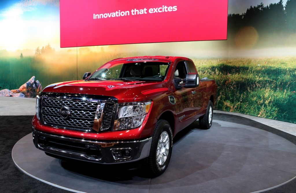 2017 Nissan Titan is on display at the 109th Annual Chicago Auto Show at McCormick Place